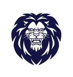 Retro lion logo template tattoo design icon vector
