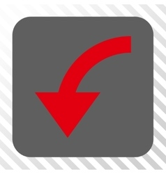 Rotate CCW Rounded Square Button vector image