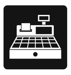 Sale cash register icon simple vector