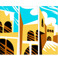 Scenes old southern city vector