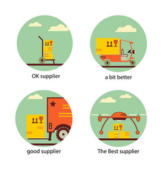service delivery supplie moving transportation vector image