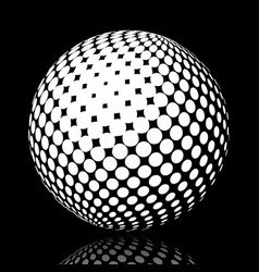 set abstract halftone 3d spheres 17 vector image