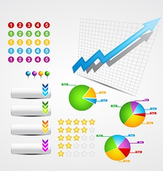 set of business and web elements vector image