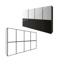 sliding door wardrobe or dressing room changing vector image