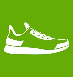 Sneaker icon green vector