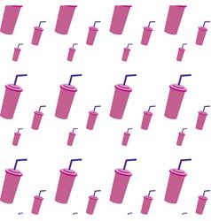 Soda beverage in the cinema movie scene background vector