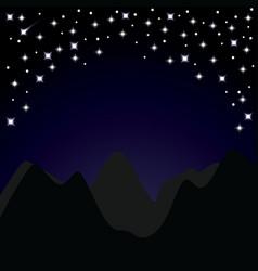 Starry night vector