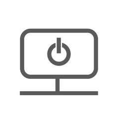 start icon inside monitor vector image