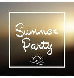 Summer Party Lettering Background vector