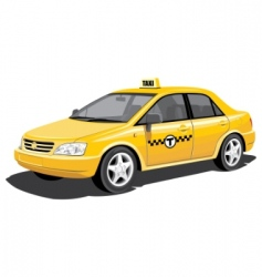 taxi vector image vector image
