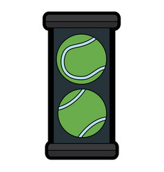 tennis ball box equipment sport vector image