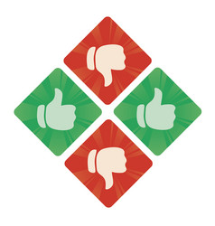 Thumbs up and the bottom icons vector