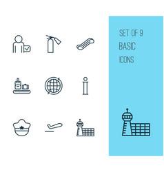 Transportation icons set with sprinkler passenger vector