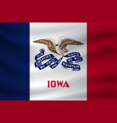 Waving flag iowa vector