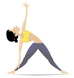 young woman doing sport or yoga exercises vector image