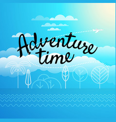 adventure time concept vector image