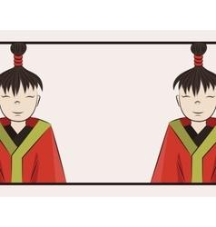 boys of Japan vector image vector image