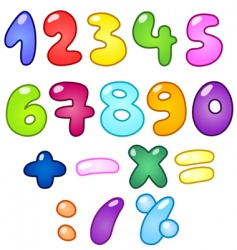 bubble numbers vector image