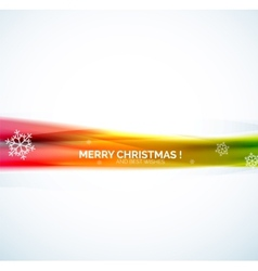 Christmas abstract background colorful line vector image
