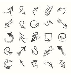 Hand drawn sketch arrows vector image