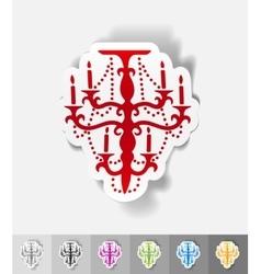 realistic design element chandelier vector image