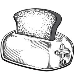 retro toaster vector image vector image