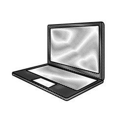 scribble laptop cartoon vector image vector image