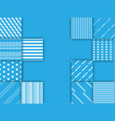 blue and white square background abstract vector image vector image