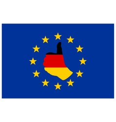 German finger signal in Europe vector image vector image