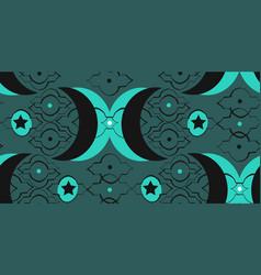 hand drawn islamic graphic unusual seamless vector image