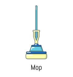 mop icon cartoon style vector image