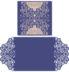 Laser cut pattern for invitation card vector