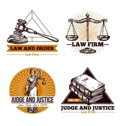 Legal Firm And Office Logo Set vector image vector image