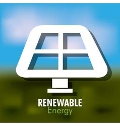 renewable energy design vector image