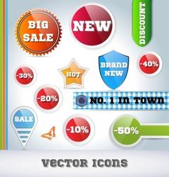 Sale Icon Set vector image