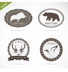 Hunting labels set vector image vector image