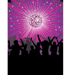 nightlife in the disco club vector image