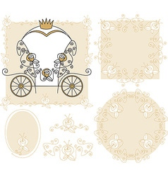 set wedding decoration vector image vector image