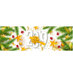 2019 happy new year universal background vector image