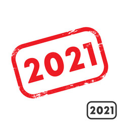 2021 rubber stamp with grunge texture and clean vector image