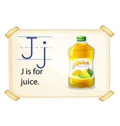 A letter j for juice vector