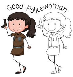 a police woman character vector image