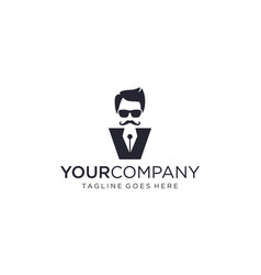 Abstract people with pen forms for logo design vector