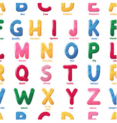 alphabet pattern cartoon letter abs vector image