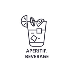 Aperitif beverage line icon outline sign linear vector