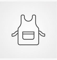 apron icon sign symbol vector image