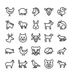 Avatars line icons 3 vector