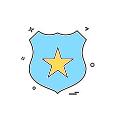 badge star icon design vector image