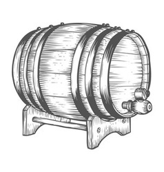 Barrel of Beer Drawing vector image
