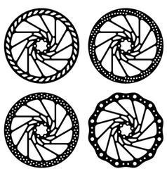 Bike brake disc black silhouette vector